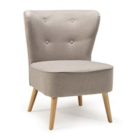 Lars Fabric Tufted Button Retro Accent Chair Grey