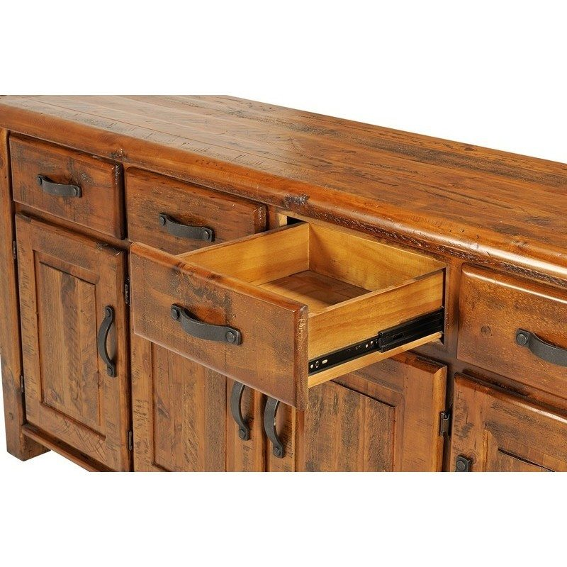 Farmhouse solid wood sideboard rustic buffet m buy