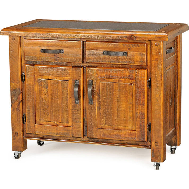 Where To Buy Kitchen Tables: Farmhouse Solid Wood Chopping Block Kitchen Island