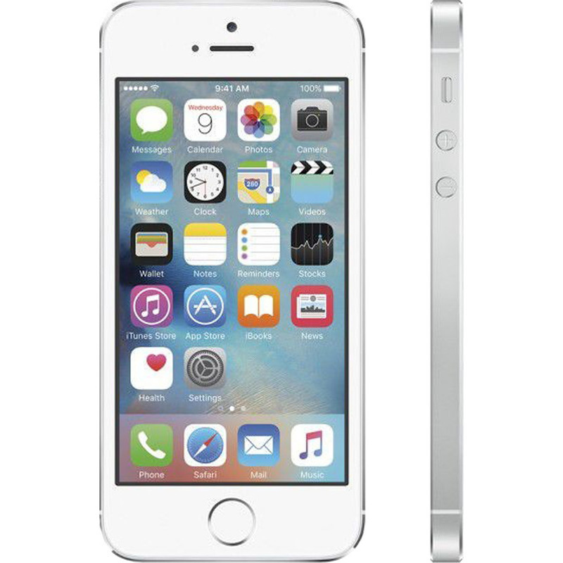 refurbished apple iphone 5s 16gb unlocked in silver buy iphone 5. Black Bedroom Furniture Sets. Home Design Ideas
