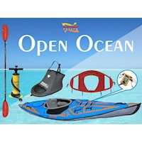 Open Ocean Inflatable Kayak Package w Paddle & Pump