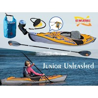 Junior Unleashed Inflatable Kayak Package w/ Paddle