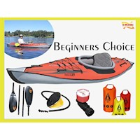 Beginners Choice Inflatable Kayak Package w/ Paddle