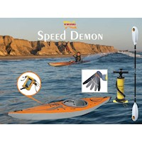Speed Demon Inflatable Kayak Pack w/ 4 Part Paddle