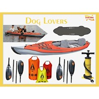 Dog Lovers Inflatable Kayak Package with 2 Paddles