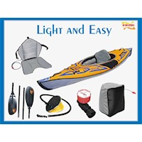Light and Easy Inflatable Kayak Package with Paddle