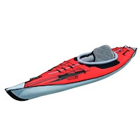 AdvancedFrame Inflatable Kayak w/ Bag in Red & Grey