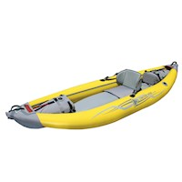 StraitEdge Inflatable Kayak w/ Bag in Yellow & Grey