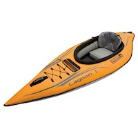 Lagoon 1 Person Inflatable Kayak w/ Bag in Orange