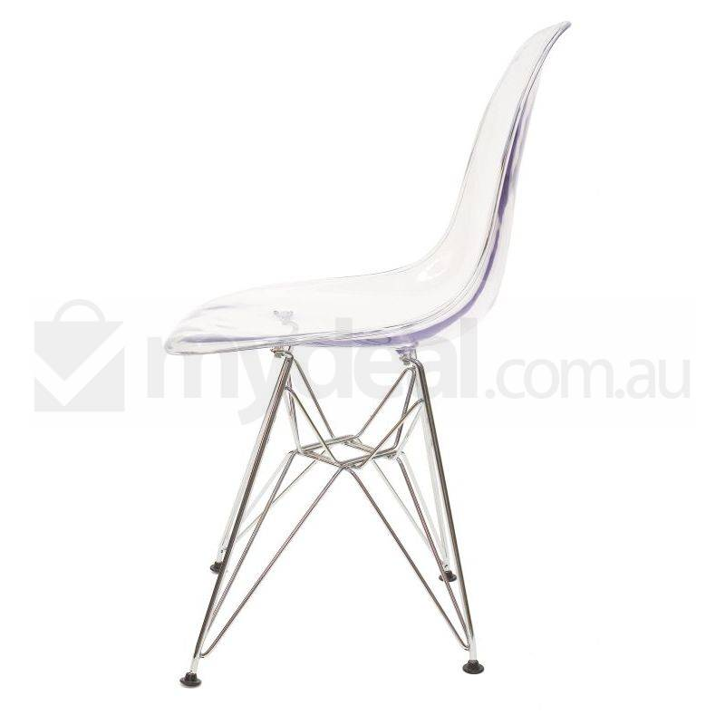 6x Replica Eames DSR Dining Chair in Clear amp Chrome Buy  : SK0116C603 from www.mydeal.com.au size 800 x 800 jpeg 25kB