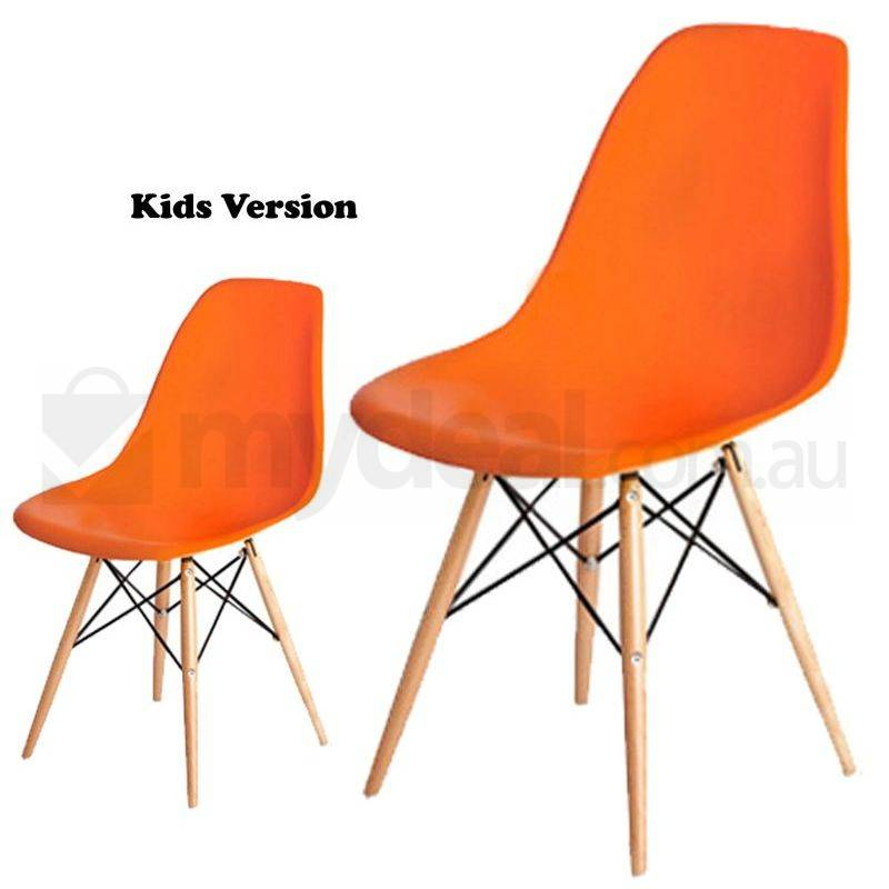 Kids Replica Eames Dsw Dining Chair In Orange Buy Tables