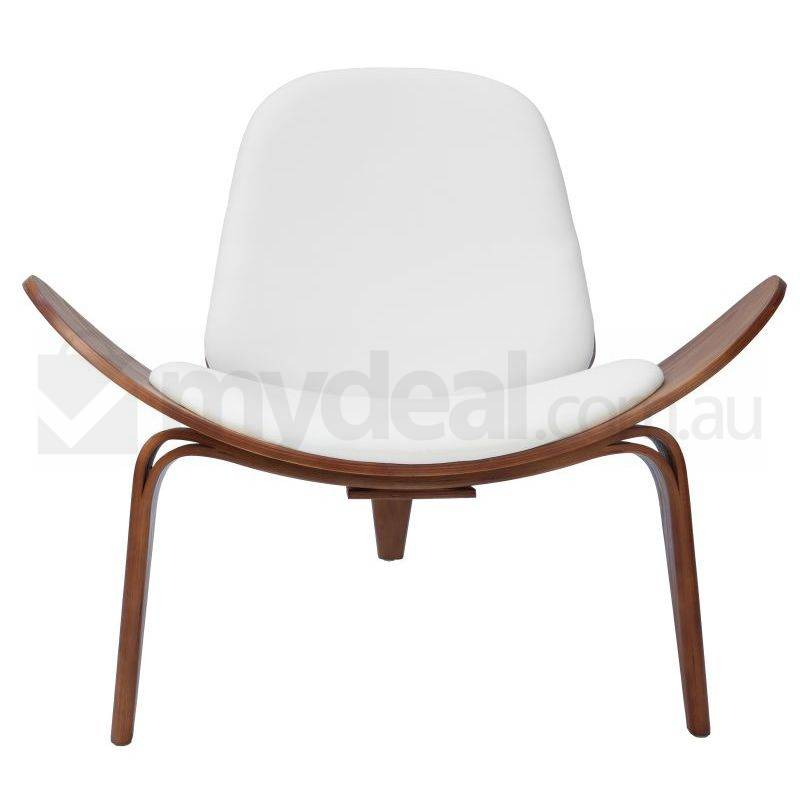 Replica Hans Wegner Shell Chair In White And Walnut Buy