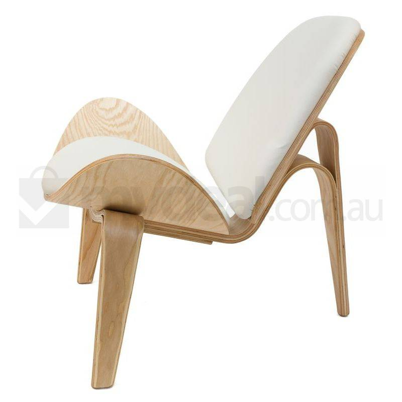 Replica Hans Wegner Shell Chair In White Natural Buy Sale
