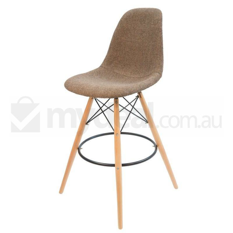 Eames Inspired Dsw Bar Stool In Brown And Natural Buy