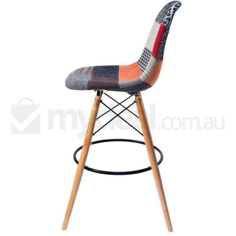 Eames Inspired Dsw Bar Stool In Patches And Natural Buy