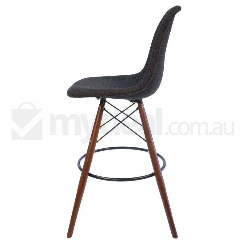 2x Eames Inspired Dsw Bar Stool Charcoal Amp Walnut Buy