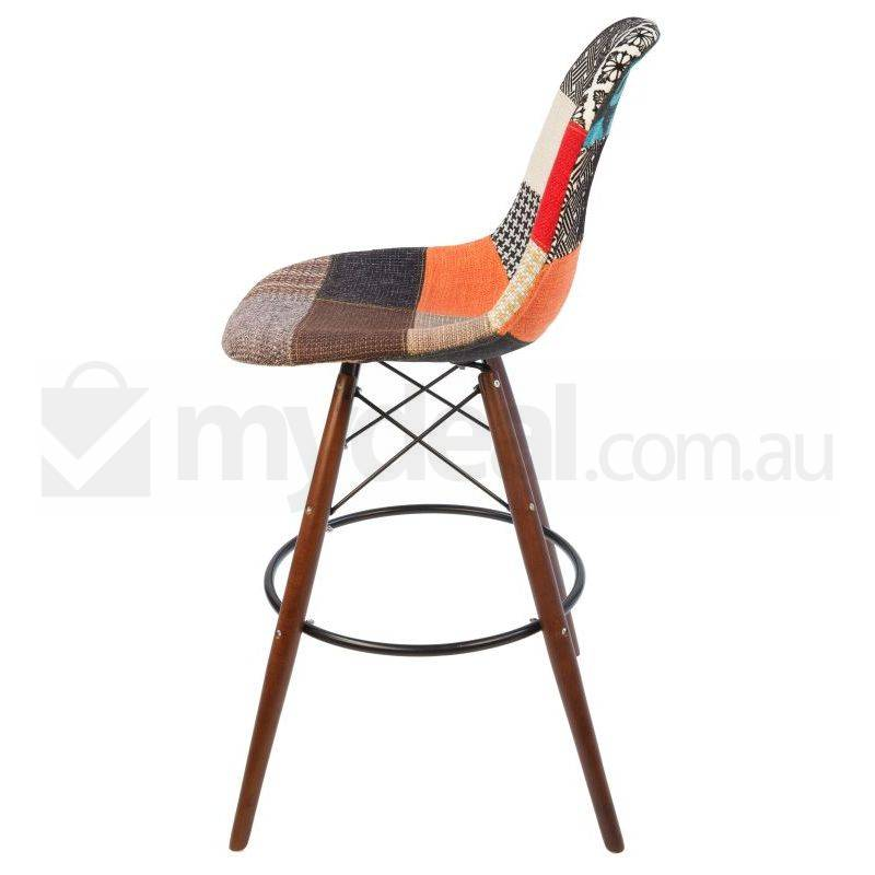 Eames Inspired Dsw Bar Stool In Patches And Walnut Buy
