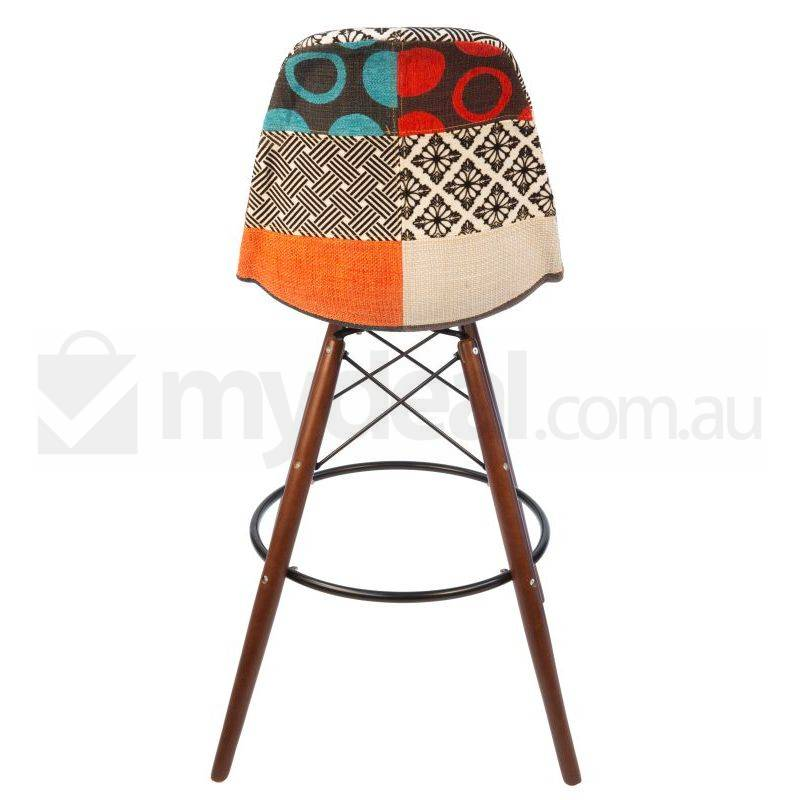 2x Eames Inspired Dsw Bar Stool In Patches Amp Walnut Buy
