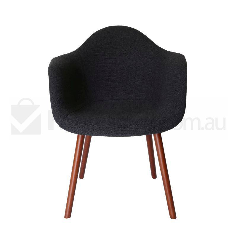 Replica eames daw hal chair in charcoal and walnut buy for Eames daw reproduktion