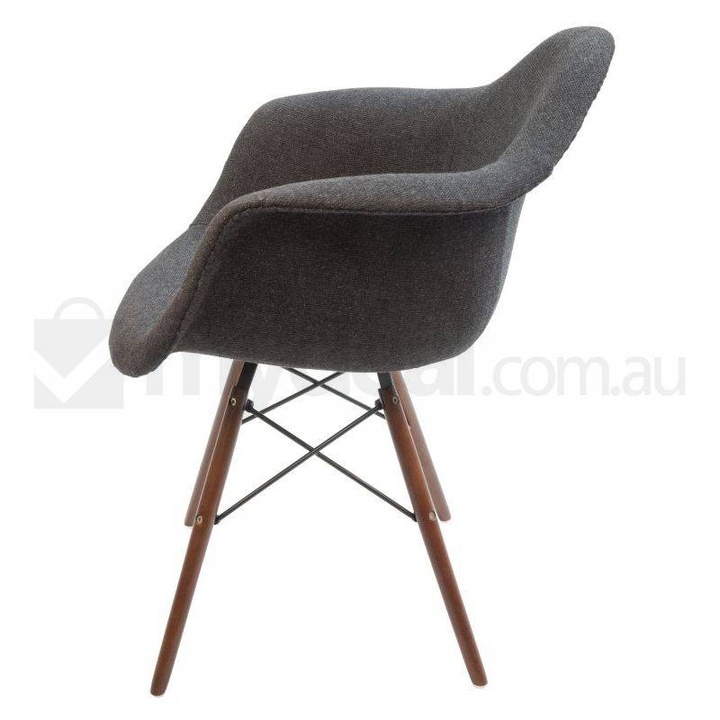 Replica Eames DAW Dining Chair in Charcoal amp Walnut Buy  : SK0116NC8003 from www.mydeal.com.au size 800 x 800 jpeg 39kB