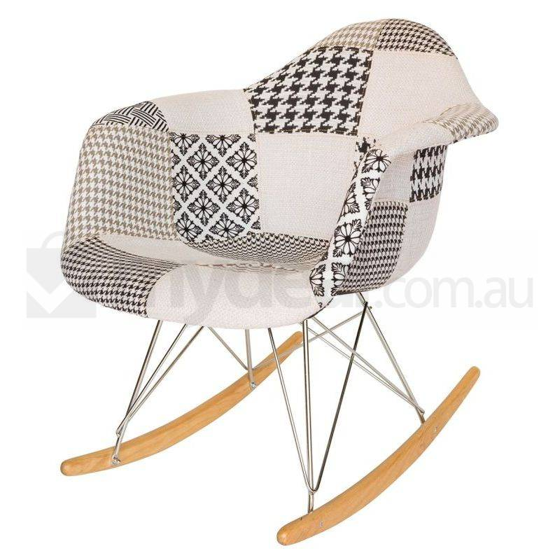 replica eames rar rocking chair in patchwork ver 3 buy rocking chairs. Black Bedroom Furniture Sets. Home Design Ideas