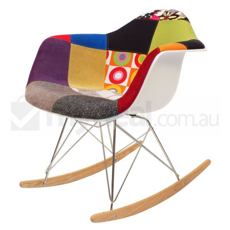 replica eames rar rocking chair in patchwork ver 1 buy rocking chairs. Black Bedroom Furniture Sets. Home Design Ideas