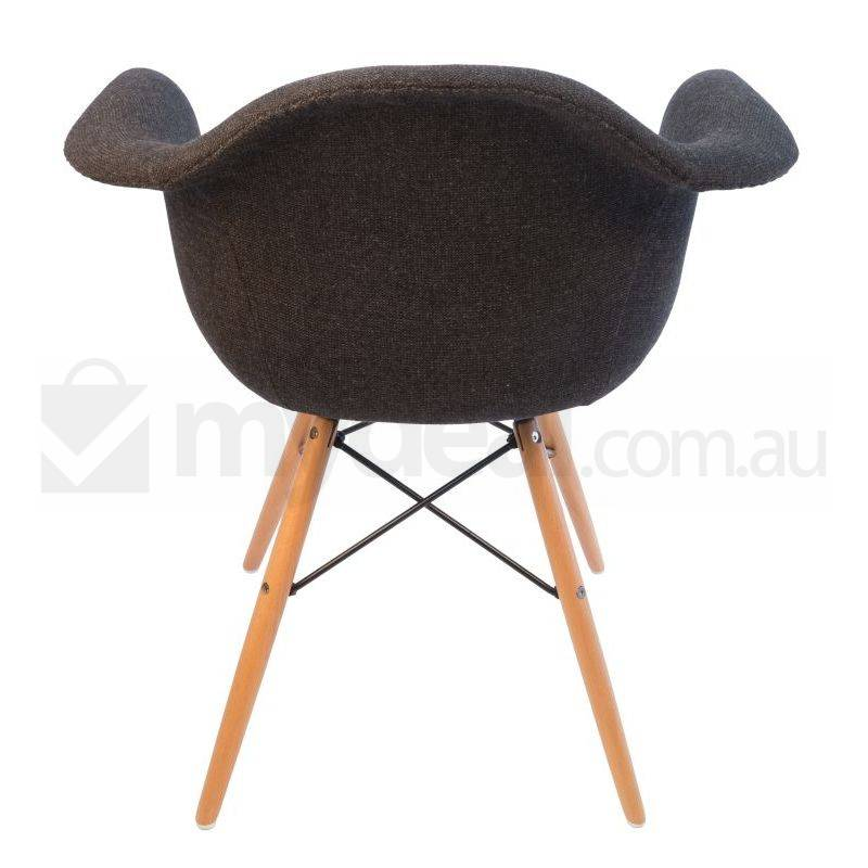 2x replica eames daw dining chair charcoal natural buy for Eames daw reproduktion