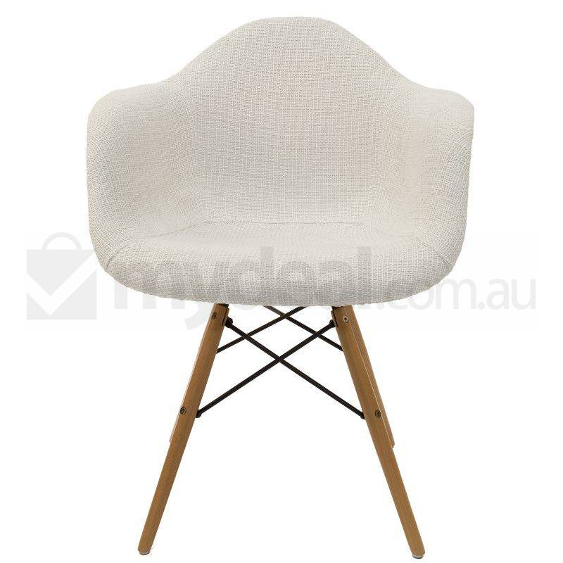Replica eames daw dining chair in ivory and natural buy for Eames daw reproduktion