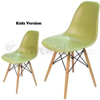 Kids Replica Eames DSW Dining Chair in Green
