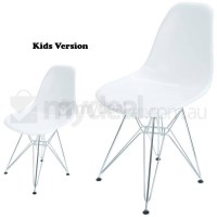Kids Replica Eames DSR Dining Chair in Snow White