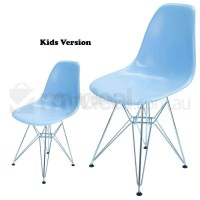Kids Replica Eames DSR Dining Chair in Sky Blue