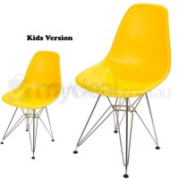 Kids Replica Eames DSR Dining Chair in Yellow