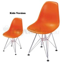 Kids Replica Eames DSR Dining Chair in Orange