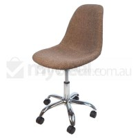 Eames Inspired DSW/DSR Office Chair in Light Brown