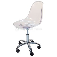 Eames Inspired DSW/DSR Office Chair - Transparent