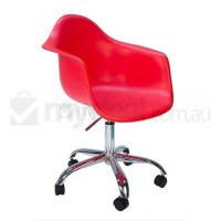Eames Inspired DAW/DAR Office Chair in Bright Red