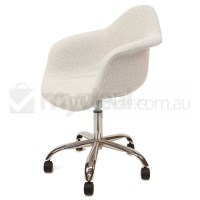 Eames Inspired DAW/DAR Office Chair in Ivory Fabric