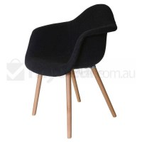 Replica Eames DAW Hal Chair in Charcoal and Natural