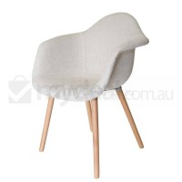 Eames DAW & Hal Inspired Chair in Ivory and Natural