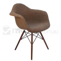 Replica Eames DAW Dining Chair in Brown and Walnut