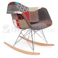 Replica Eames RAR Rocking Chair in Patchwork Ver 2