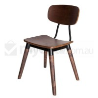 Replica Sean Dix Dining Chair in Walnut and Black
