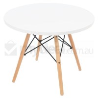 Kids Replica Eames DSW Table White w Natural Legs