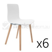 6x Replica Jasper Morrison Hal Chair White Natural