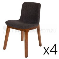 4x Replica Jasper Morrison Hal Dining Chair Walnut