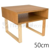 Olle Square Wooden Bedside Table in Natural 50cm