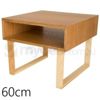 Olle Square Wooden Bedside Table in Natural 60cm