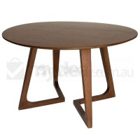 Delta Round Ash Wood Dining Table in Walnut 120cm