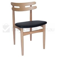 Replica HW Klein Dining Chair in Black PU Leather