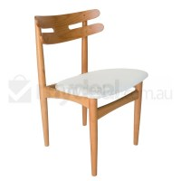 Replica HW Klein PU Leather Dining Chair in White